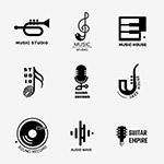 黑白音乐主题徽标