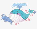 吐水的鲸鱼