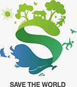 保护环境抽象插画