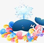 喷水的鲸鱼