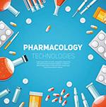 药物药理学背景矢量