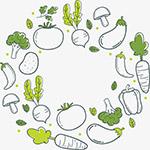 通手绘蔬菜