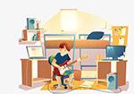 宿舍弹吉他的人