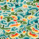 东方中国艺术云图案