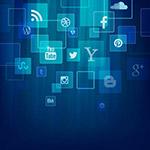 社交媒体图标背景