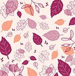 手绘树叶秋季背景