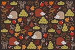 手绘秋季背景矢量