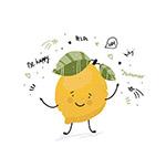 手绘可爱柠檬插图