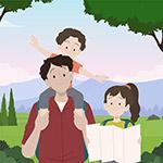 手绘插图家庭场景