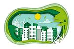 剪纸风生态城市