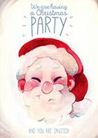 水彩圣诞派对海报