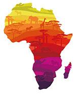 非洲动物剪影