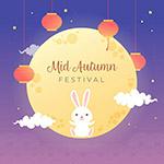 中秋兔子插画