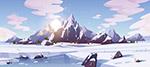 雪山冰川矢量