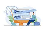 在线购机票插画