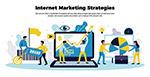 互联网营销战略插画