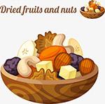 矢量水果干和坚果