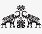 大象与荷花