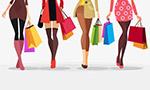 购物美女人物矢量