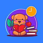 看书的小熊矢量
