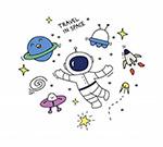 卡通太空主题涂鸦