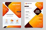 橙色商务宣传单