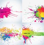 彩色喷溅墨迹