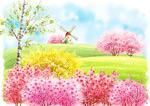 春暖花开插画