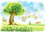 春天风景插画