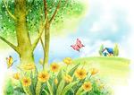 春天蝴蝶插画