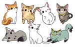 手绘卡通小猫