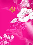 手绘花卉背景