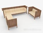 木质个性组合沙发