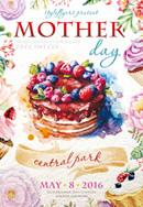 母亲节蛋糕海报