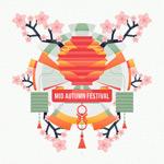 扁平化中秋节海报