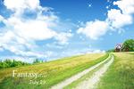 蓝天白云自然风