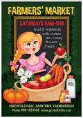 果蔬牛奶卡通海报