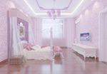 粉色卧室模型