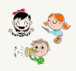 彩绘儿童头像