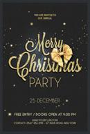 黑金圣诞海报