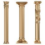 金色罗马柱子图片