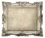 银色雕花画框图片