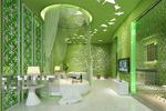 绿色卧室模型