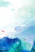 水彩海报背景