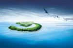 创意海岛背景