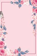 玫瑰花卉装饰边框