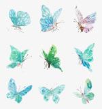 一群水墨蝴蝶