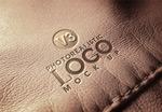皮革上的LOGO样机