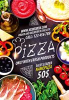 美食披萨海报