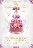 浪漫蛋糕婚礼海报